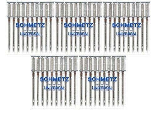 Purchase 50 Schmetz Universal Sewing Machine Needles 130/705H 15x1H Size 75/11
