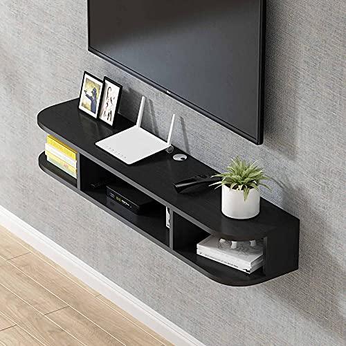 Mueble de TV Flotante, Mueble TV de Pared con 3 Compartimentos de Almacenamiento, Consola de TV Colgante para Sala de Estar, Dormitorio/C / 120cm