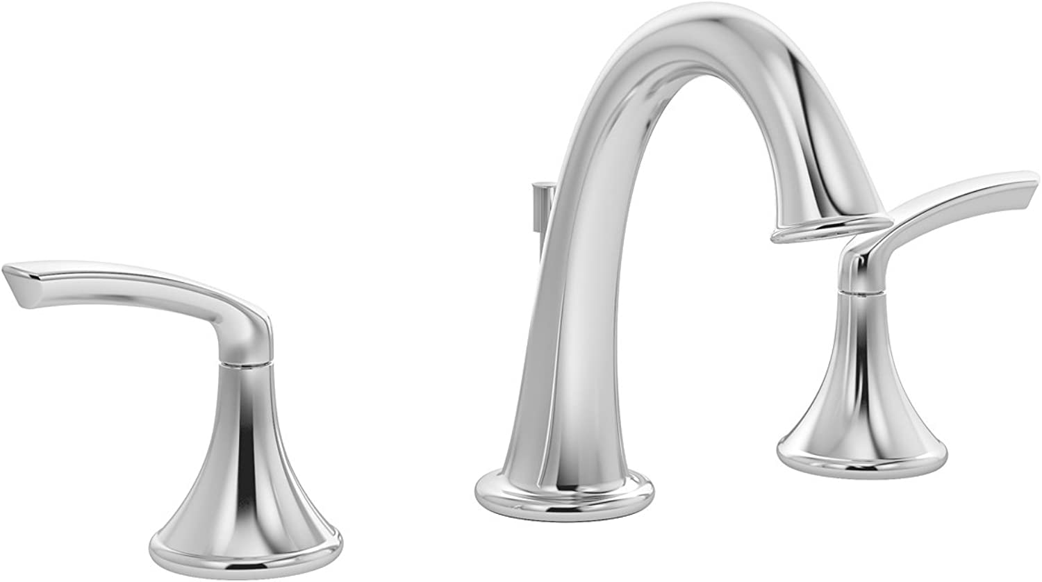 Symmons Elm Two-Handle 8-16 Inch Widespread Bathroom Faucet with Pop-Up Drain & Lift Rod, Chrome (SLW-5512-1.5)