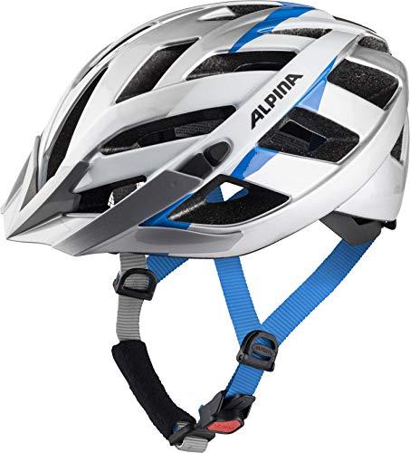 ALPINA PANOMA 2.0 Fahrradhelm, Unisex– Erwachsene, silver-white cyan, 56-59