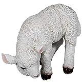 SIDCO Lamm Schaf Ostern Lämmchen Osterlamm Schaffigur lebensecht Garten Figur Deko