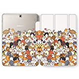 Wonder Wild Case Compatible with Samsung Galaxy Tab Cat Bunch S4 S2 S3 A S6 Lite S5e S7 Plus Cover 8 Pen 9.7 10.1 10.5 Inch Clear Design Animal Cute Furry Meow Kittens Funny Heart Love Furry Milk