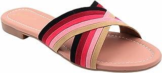 Gibelle women's casual slip-on Peach latest flat sandal