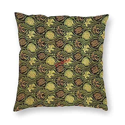 VinMea Funda de almohada decorativa Tulip And Lil Fundas de cojín para sofá, dormitorio, hogar, oficina, decoración de 50 x 50 cm