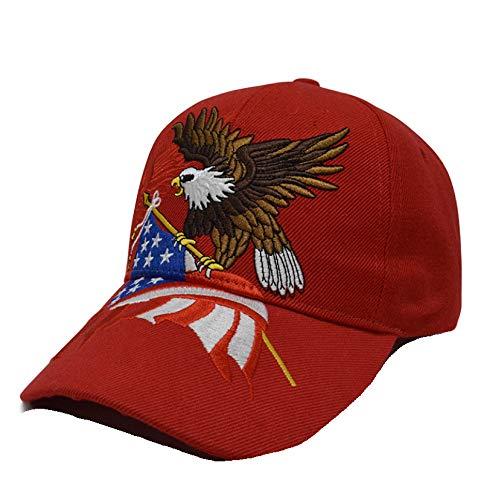 eBoutik 2020 Keep America Great Cap – Maga Make America Great Again USA Cap – Sombrero para presidente de trucha Rojo Gorra bordada con diseño de águila calva, color rojo Talla única