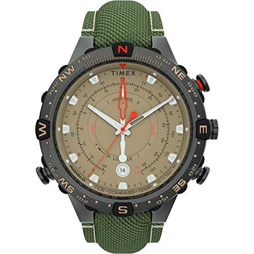 Timex Allied 45mm Tide Temp Compass - Gunmetal & Tan - TW2T76500JV