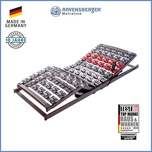 RAVENSBERGER VARIFLEX® 5-zone beuken systeemschotel frame | elektrisch | 4-voudig segmentplaat veerelementen | Made in Germany - 10 jaar garantie | maten 80 x 200 cm, 90 x 200 cm, 100 x 200 cm