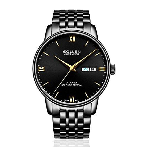 XY-QXZB Orologi da uomo automatico puntatore meccanico cinturino in pelle cinturino meccanico impermeabile orologio , 005