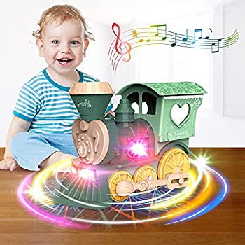 Fortikpo 2021 New Stunning 3D Lights and MusicToy Train