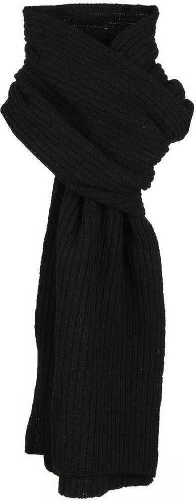 Dents Many popular brands Mens Plain Ribbed Knitted - OFFer Scarf Black
