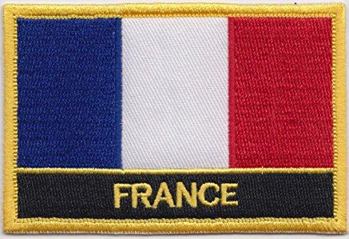 France Drapeau Brodé Rectangulaire Patch Badge / à Coudre ou à Repasser - Design Exclusif à partir de 1000 Flags