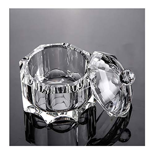 Lxuwbd fashionable crystal glass glass ashtray with lid (Transparent color)