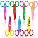 LovesTown Paper Edge Scissor Set,7 Pcs Shape Scissors Designs Pattern Scissors Craft Art Scissors for DIY Photos Album Scrapbooking