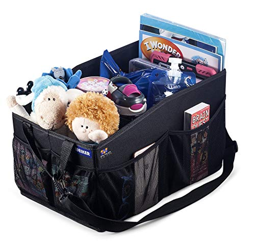 Car Organiser Multi Pockets Car Back Front Seat Organiser with multiple Storage Sections, Portable Car Boot Organiser – Ver 4.0 Q7S Q7S2JXN Car Organizer