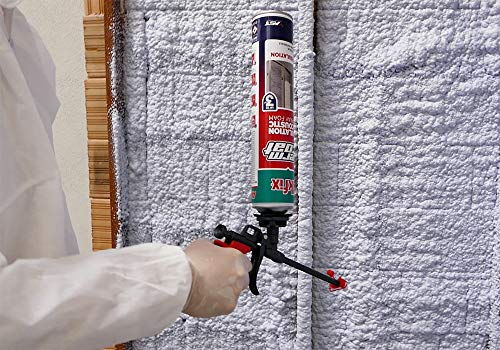 Akfix Thermcoat 12 Pack Heat and Acoustic Insulation Spray Foam 29 oz with Spray Foam Gun and 1 Cleaner (240 Board Feet) - 12 Pack