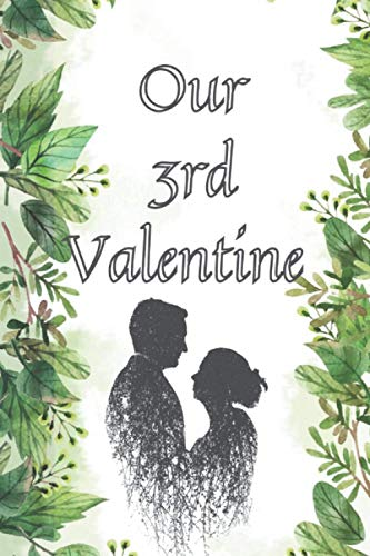 OUR 3RD VALENTINE: couple 3d valentine celebration gift simple line journal for couple