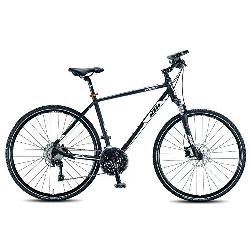 KTM Itero Cross Herren 30 Gang Cross Trekking Fahrrad 2016, Farbe:Schwarz;Rahmenhöhe:51 cm
