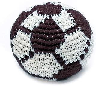 Mia Jewel Shop Guatemalan Handcrafted Crochet Pattern Hacky Ball Foot Bag Sack Black White Soccer Ball