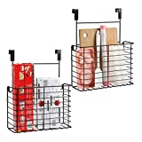 TreeLen 2PK- Kitchen Cabinet Organizer for Cutting Boards Over The Cabinet Organizer Wall Door Mount Foil Holders Rack for Kitchen Bathroom Pantry-Bronze …