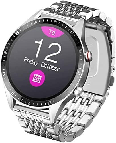 XINYUDAGE Praktische Zwei-Wege-Gesprächs-Smartwatch Wasser- und staubdichte Smartwatch Silber Iteration