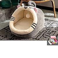ペットベッド ドーム型 小型犬 可愛い 秋冬 猫用 マット キャットハウス ふかふかハウス クッション 改良型 冬用 防寒 洗える 暖かい ベッド ペット用寝袋 ぐっすり眠れる 四季適用 ピンクな羊さん M ドーム型 模様
