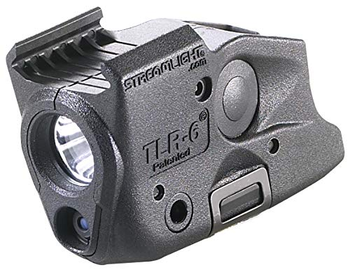 Streamlight 69290 TLR6 Tactical Pistol Mount Flashlight 100 Lumen with Integrated Red Aiming Laser Designed Exclusively and Solely for Glock Railed Hand Guns Black