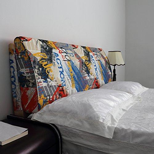VERCART Coussin de Lecture Oreiller Polochon Confortable Ergonomique Orthopedique Cale Nuque Triangulaire Lit Canapé Chaise Banc Déhoussable 180x50x12cm