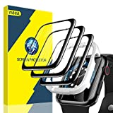 [3 Pack] YMHML Screen Protector Compatible with Apple Watch 40mm SE Series 6/5/4 [Easy Install] Anti-ScratchFull Coverage 3D CurvedEdge Flexible HD Film for iWatch 40mm Accessories (40mm, Black egde)