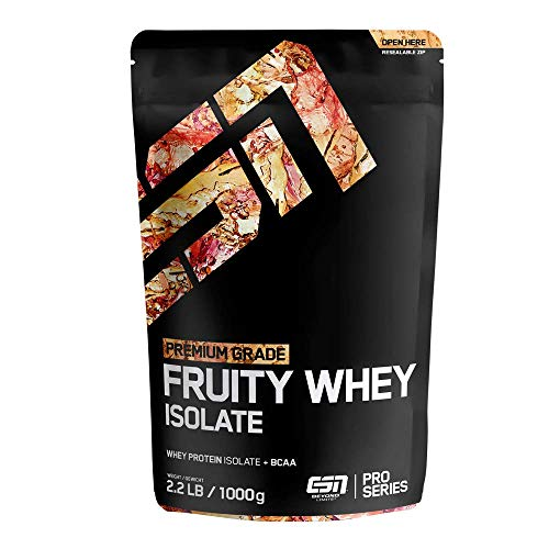 ESN Fruity Whey Isolate – 1000g – Fresh Lemonade – Fruchtiges Proteinpulver reich an EAAs und BCAAs – praktisch laktose- & fettfrei – 33 Portionen – Made in Germany