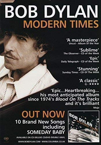 Generic Bob Dylan Modern Times Foto Poster Street Legal Shadows in The Night 001 (A5-A4-A3) - A4