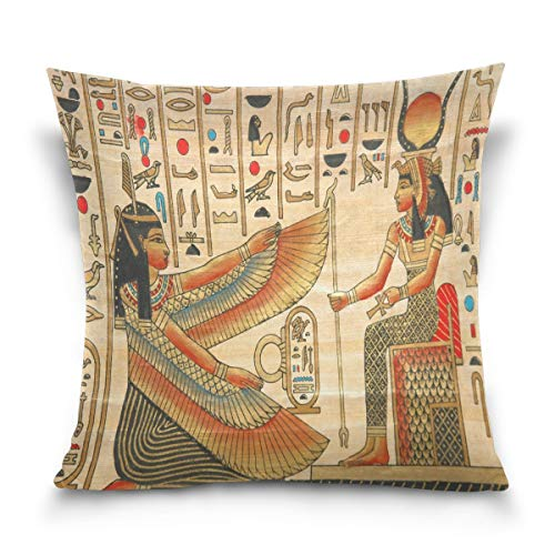 Funda de almohada decorativa para sofá, cama de Egipto, funda de almohada de doble cara, 55,8 x 55,8 cm