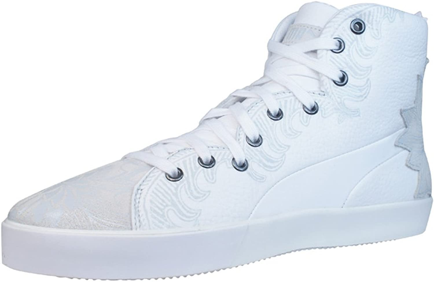Puma 4M Mix Womens Leather Sneakers shoes - White