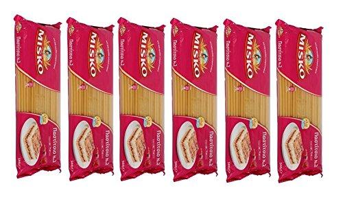 Griechische Macaroni 6x 500 g Packung (3kg) Makkaroni Pastizio Pastitsio Maccaroni Pasta Nudeln aus Griechenland im Spar Set + Probiersachet Olivenöl 10ml