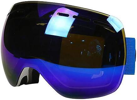 Exquisite goggles Double ski goggles Outdoor Men Women Professional UV400 Snowboard Antifog Snow Goggles UV predection,bluee