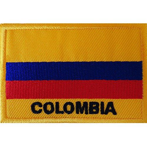Kolumbien-Flagge zum Aufbügeln oder Aufnähen auf Hemden, Kleidung, Südamerika, bestickter Abzeichen
