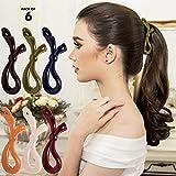 RC ROCHE ORNAMENT 6 pezzi clip di capelli a banana clip di capelli artiglio dei capelli dell'arco dei capelli delle delle capelli ciclo dei capelli artiglio antiscivolo, colore più classico medio
