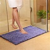 Xiaoxian Alfombra antideslizante de felpilla de microfibra con absorción de agua, lavable a máquina (50 x 80, lila)