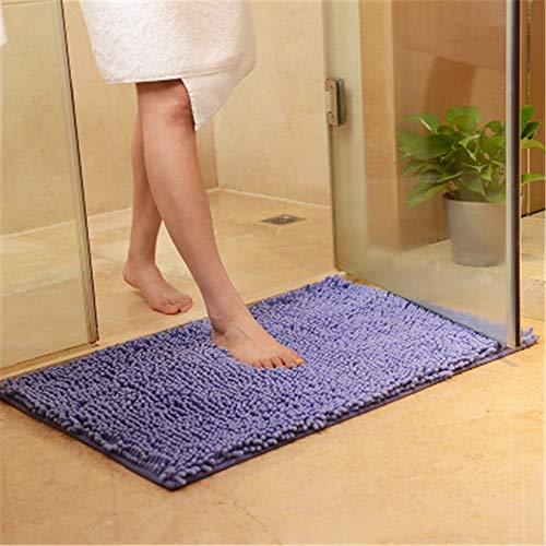 Xiaoxian - Alfombra antideslizante para baño (microfibra, 50 x 80 cm), color lila