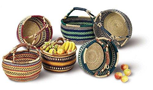 SIDCO Seegras Tasche Afrika Einkaufskorb Strohtasche Kenia Bag Korb Einkaufstasche