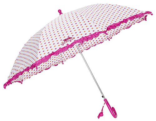 Trespass dames paraplu Clarissa met ruikzoom en pijp op het handvat, abrikoos polkadot print, één maat, FCACMIJ30002_APKEACH