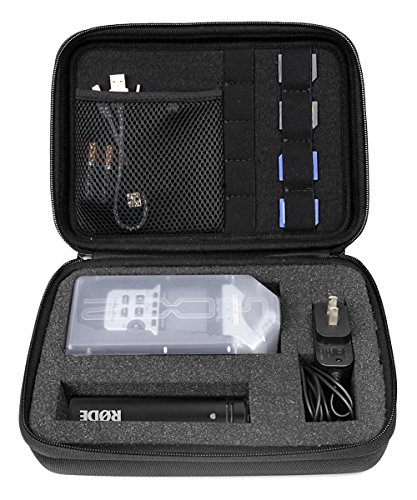 Professional Portable Recorder Case with DIY foam inlay for ZOOM H1, H2N, H5, H4N, H6, F8, Q8 Handy Music Recorders, Charger, Mic Tripod Adapter and Accessories, Smart padding for SD cards