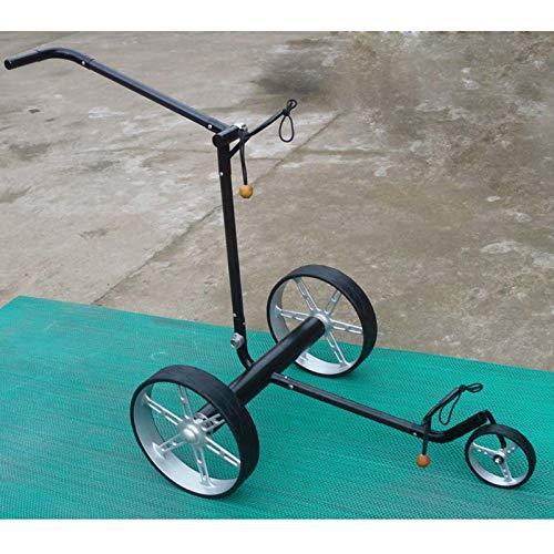 LY Elektro-Golfcarts Stahl-Golftrolley Golfwagen Golfcaddy Zusammenklappbar with Anzeigetafel, Regenschirmrohr,Getränkehalter, Handyhalter, Black 65204