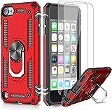 LeYi Funda iPod Touch 6/7/ 5 con [2-Unidades] Cristal Vidrio Templado,Armor Carcasa con 360 Grados...