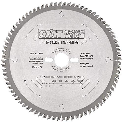 CMT Orange Tools 283.080.10M Sierra circular 250x3.2x30 z 80 atb 40 grados silenciosa