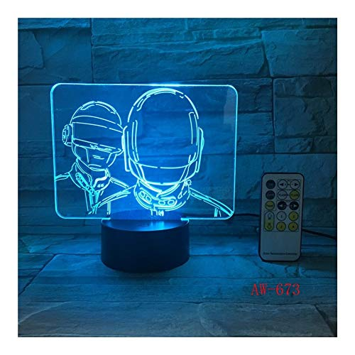 3D PUBG Winner Chicken Dinner Night Light FPS Jeu Joueur Inconnues Battle Grounds 3D Lampe Lampe De Table (Color : 7 Colors)