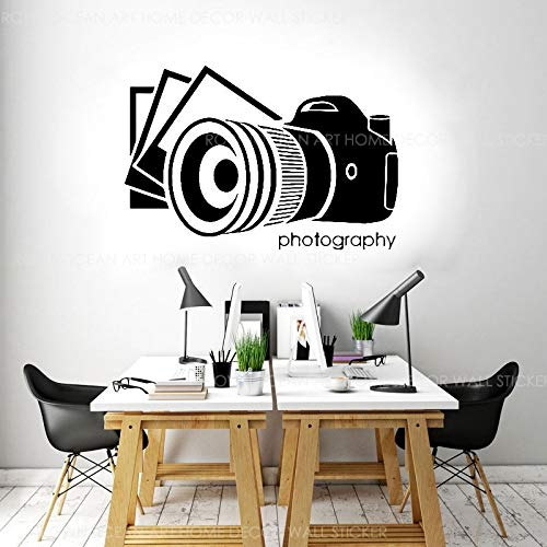 Fotografía Cámara Photo Studio Sign Etiqueta de la pared Arte Diseño de interiores Mural Tatuajes de pared Decoración de ventanas Papel tapiz A8 62x42cm