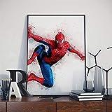 Accueil décoration murale affiche aquarelle Marvel DC super-héros Iron Man Hulk SpiderMan Batman toile peinture No Frame 60x90 CM PAS de cadre