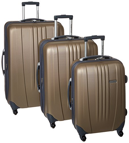 Big Sale Travelers Choice Luggage Toronto Three Piece Hardside Spinner Luggage, Gold, One Size
