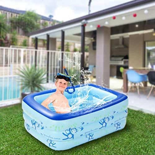 WWJJLL Kinder aufblasbarer Swimmingpool, Haushalt PVC-Platz Pool für Kinder Leicht zu montieren Tragbare Griffige Kinderpool