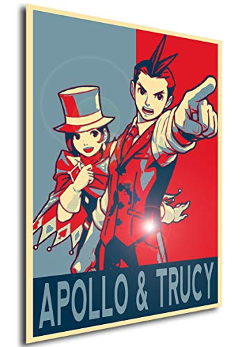 Instabuy Poster - Propaganda - Ace Attorney - Apollo Justice & Trucy Wright A3 42x30